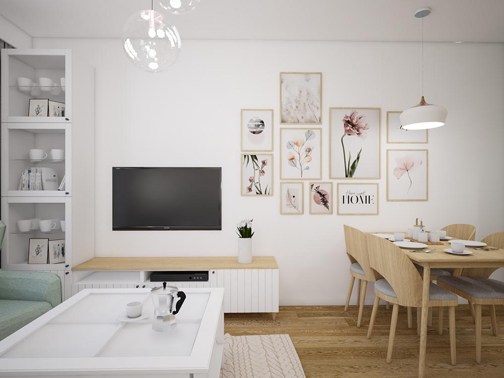 Mieszkanie z pastelowymi akcentami